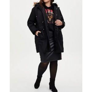 🆕 Black Twill 3-in-1 Parka Coat NWT Torrid 2X 18